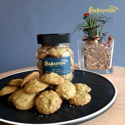 Macha White Chocolate Cookies