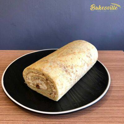 Wholemeal Walnut Swiss Roll