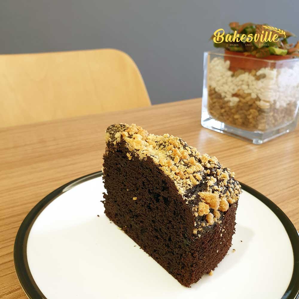 Chocolate Crumble Slice Cake