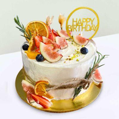 Exotic Fresh Fruit Cake